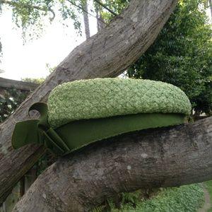 Vintage Green Hat - 1950s